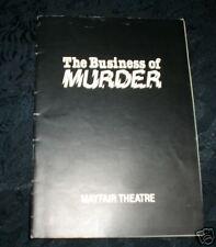 Playbill/Program/programme THE BUSINESS OF MURDER, Mayfair Theatre,1985