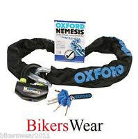 OXFORD Nemesis 1.5m Ultra Strong Motorcycle Security Chain & Padlock OF331