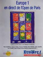 PUBLICITÉ RADIO EUROPE 1 EN DIRECT DE L'OPEN DE PARIS