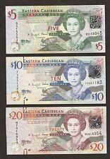 2012 del Caribe Oriental $5/$10/$20 dólares conjunto de Uncirculated