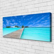 Canvas print Wall art on 125x50 Image Picture Bridge Sea Architecture