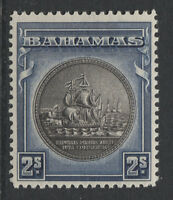 BAHAMAS - 1931/46 2/- BROWNISH BLACK & STEEL- BLUE MINT SG.131c (REF.D286)