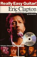 Eric Clapton Para Guitarra fácil jugar junto acorde Partituras Libro y CD de -14 canciones