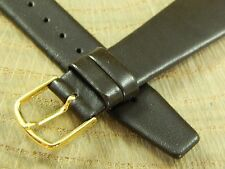 Mens Vintage Watch Band Short Brown Calf Com-Fit 20mm Goldtn Bckl New Old Stock