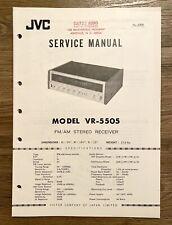 JVC NIVICO VR-5505 Service Manual - FM/AM Stereo Receiver.