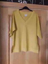Monsoon  linen blend gold coloured, short  sleeve, V neck  jumper,  size M.
