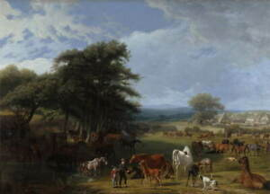 Jacques Laurent Agasse Lord Rivers's Stud Farm Giclee Paper Print Poster