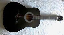 "38"" 6-String Folk Acoustic Guitar for Music Lovers Students Gift Black L5U2"