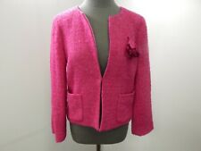 NEW J Crew Womens 10 Magenta Pink Long Sleeve Wool Blazer Jacket NWT