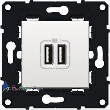 Prise chargeur double USB 1500 mA blanc Arnould Espace Evolution 64037