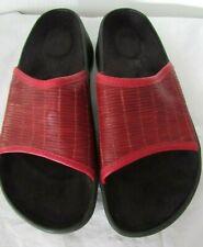 BIRKENSTOCK TATAMI 41 Woven Wine Leather Sandals Slides Slip-On L10/M8 Comfort