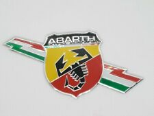 Fiat Abarth Lightning Aluminium Graphic 3D Decal Adhesive Badge 500 595 Punto