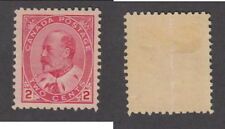 Mint Canada 2 Cent King Edward Stamp #90 (Lot #14292)