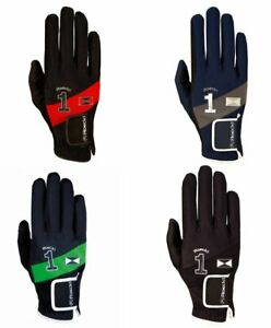 Roeckl Mission Gloves Junior size 4cm age 6-8 years red/black navy/grey