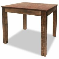 """vidaXL Dining Table 32.3"""" Solid Reclaimed Wood Rustic Room Stand Deck Couch"""