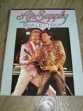 Air Supply Concert Tour Program 1985 Russell Hitchcock Graham Russell