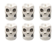 PACK OF 6 Flameless LED Candle Battery Operated Light Halloween Decoration