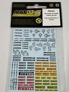 Mitoos M545 Michelin/Pirelli Decal Water Slides 1:32 Scale