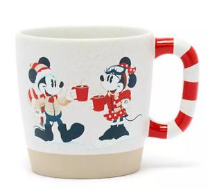 E5 BNWT Shop Disney Store Holiday Lodge 2021 Mickey & Minnie Christmas Mug Cup