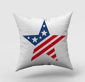 Independence Day 3D Cushion Covers Square Pillow Case Cover Sofa Home Decor #32