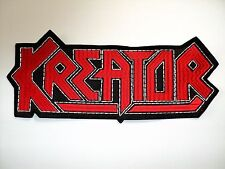 KREATOR  SHAPED  EMBROIDERED BACK PATCH