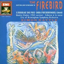 Stravinsky: Firebird Ballet / Rattle, City of Birmingham Symphony (CD,1989, EMI)