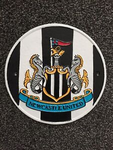 Cast Iron Newcastle United Football Club Sign