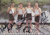 Rudern - Doppelvierer Deutschland, Gold WM 1999, Original-Autogramm!