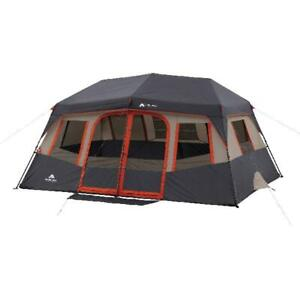 Ozark Trail Instant Pop Up Cabin Tent Camping Gear 14' x 10' 10 Ten Person Tent