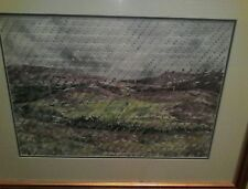 Erin Endicott unique watercolor mixed media woven painting signed by Erin