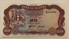 Uganda 20 Shillings 1966 Lion UNC