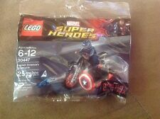 LEGO 30447 Super Heroes Captain America's Motorcycle Civil War Poly bag New!