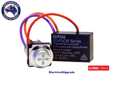 Clipsal 75va Rotary 3 Speed Fan Controller Mech Arctic Silver