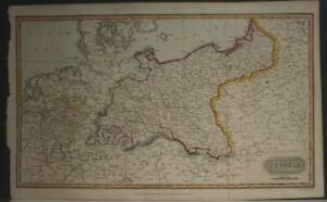 POLAND & LITHUANIA 1817 THOMAS KELLY ANTIQUE ORIGINAL COPPER ENGRAVED MAP