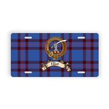 Elliot Scottish Clan Novelty Auto Plate Tag Family Name License Plate