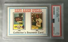 1974 Opc O Pee Chee 4 Hank Aaron Hof Atlanta Braves Special Souvenir Psa 5 Ex