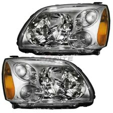 Set Of Two Left Right Halogen Head Lamp Assembly For 2004-2009 Mitsubishi Galant