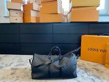 Original Louis Vuitton Keepall 55 Damier Graphite