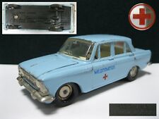 1/43 DIECAST MODEL CAR MOSKVICH MOSKVITCH 412 - MEDICAL health MADE in USSR