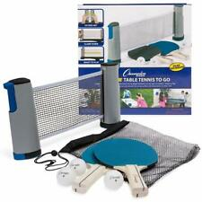 Anywhere Table Tennis: Ping Pong Paddles Balls and Portable Net & Post Set to Go