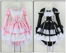 New Ladies Princess Dovetail Dress Lolita Maid Dress Halloween Cosplay Party