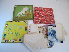 Lot of 18 Vintage Hankies Handkerchiefs Foral Irish Linen Lace  3 Hankie Boxes