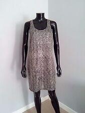 Selected / Femme black silver sequin vest dress cocktail party sz. 10