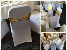100 Housses de chaises en lycra blanches pour fête ou cérémonie . Toutes chaises