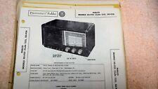 Philco Radio Models 50-925(Code 123) 50-926 Sams Photofacts Folder