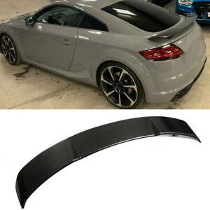 For Audi TT TTS TTRS Coupe 15-21 Carbon Fiber Rear Trunk Spoiler Racing Wing Lip