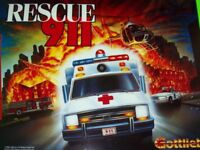 Gottlieb Rescue 911 Pinball Machine Translite Original 1994 NOS Game Art Sheet