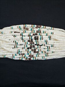"""Graduated white clam beads combination 16"""""""