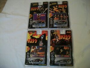 4 JOHNNY LIGHTNING KISS Funny Cars Simmons, Stanley, Criss Frehley 1:64 Diecast