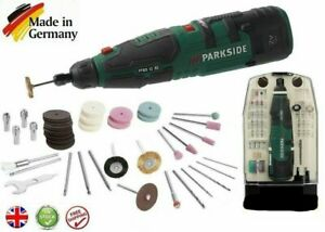 Parkside 12V Li-Ion Cordless Rotary Multi tool Battery & Charger+50 accessories.